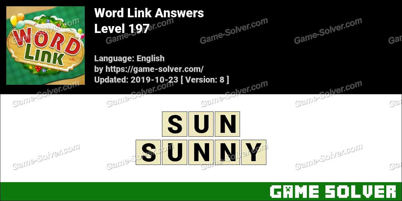 Word Link Level 197 Answers