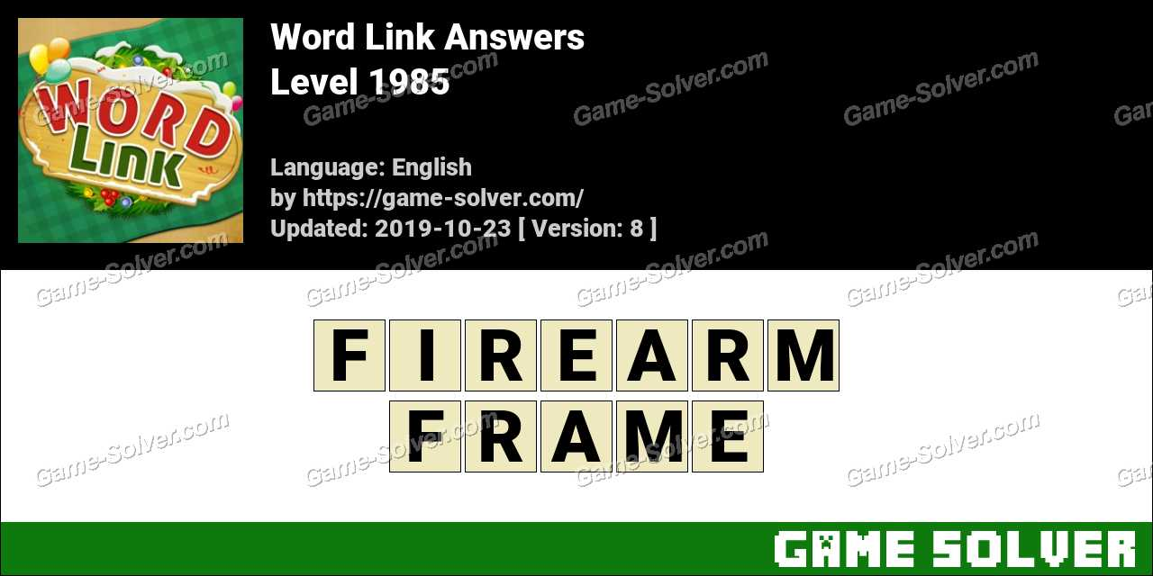 Word Link Level 1985 Answers