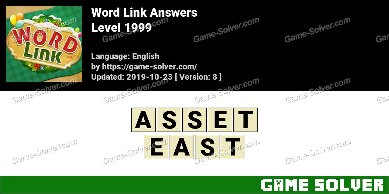 Word Link Level 1999 Answers