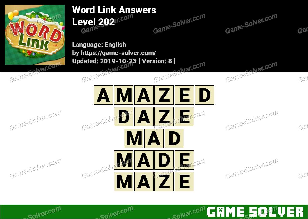 Word Link Level 202 Answers
