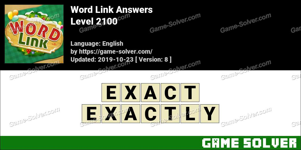 Word Link Level 2100 Answers