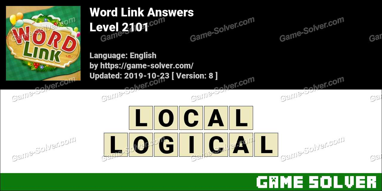 Word Link Level 2101 Answers