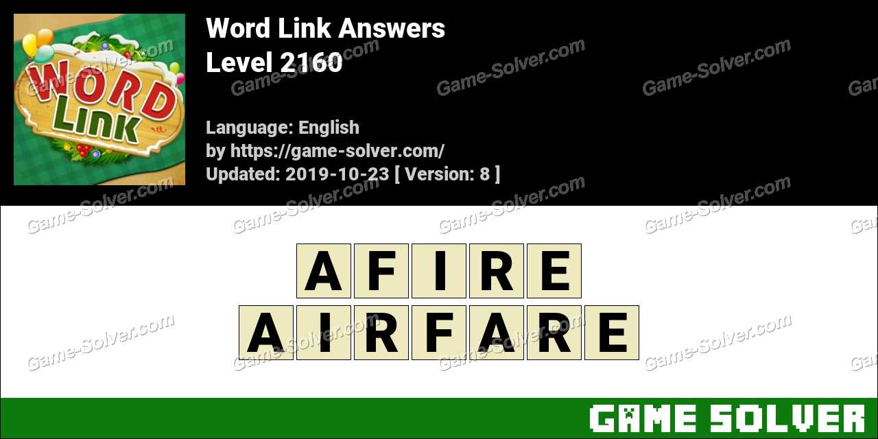 Word Link Level 2160 Answers