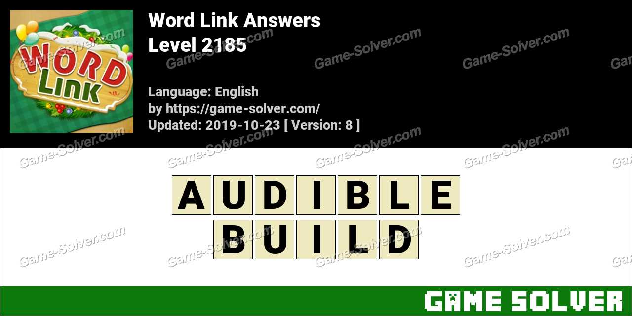 Word Link Level 2185 Answers