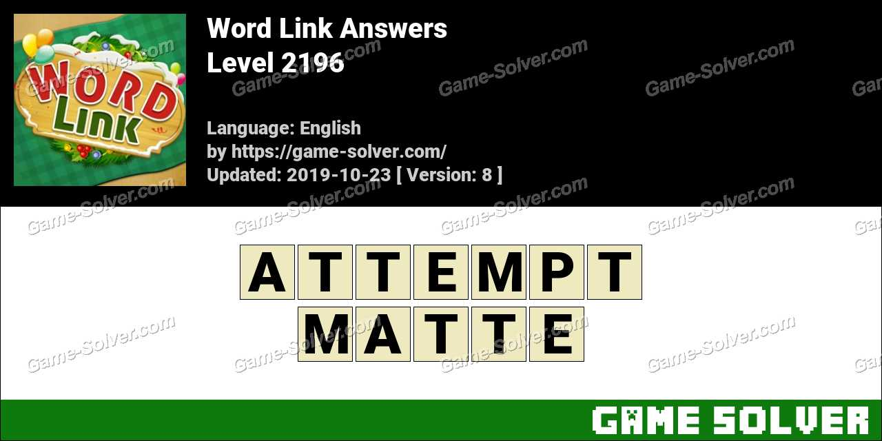 Word Link Level 2196 Answers