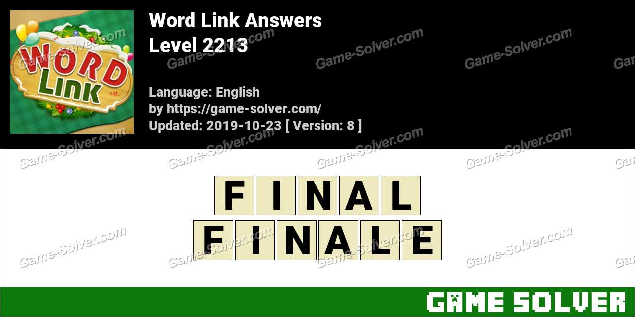 Word Link Level 2213 Answers