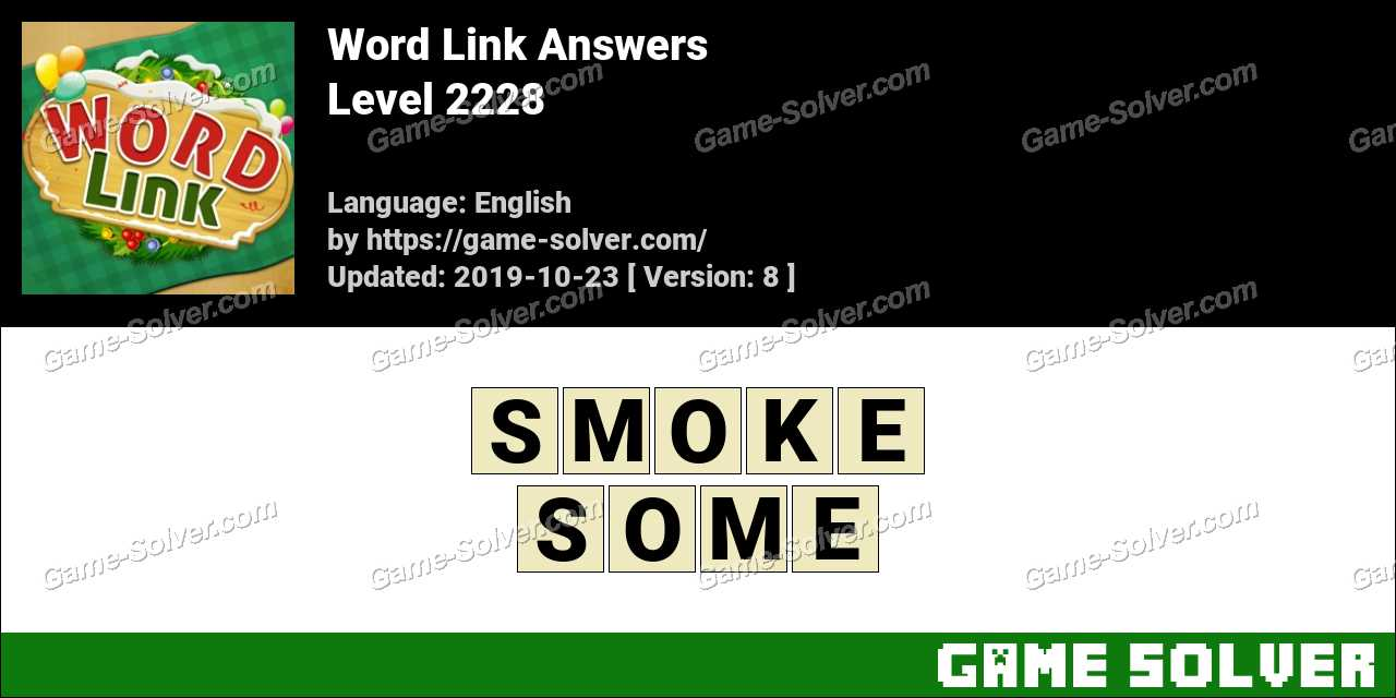 Word Link Level 2228 Answers