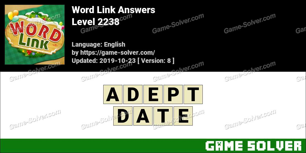 Word Link Level 2238 Answers