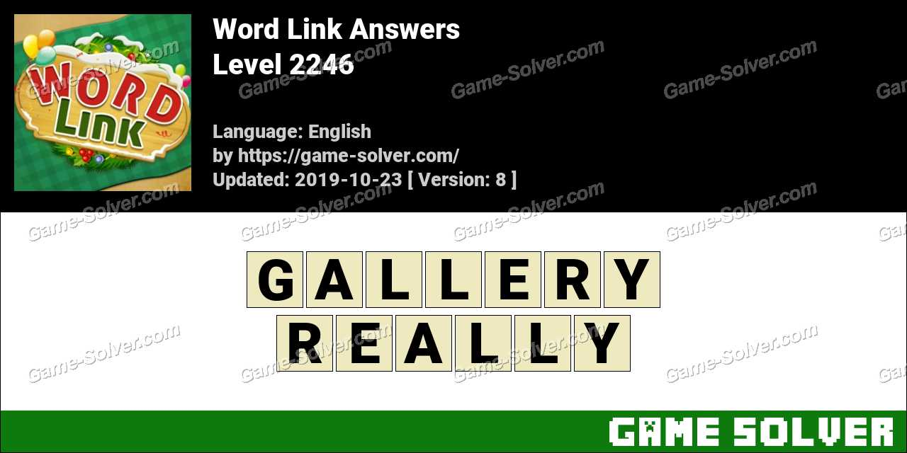 Word Link Level 2246 Answers