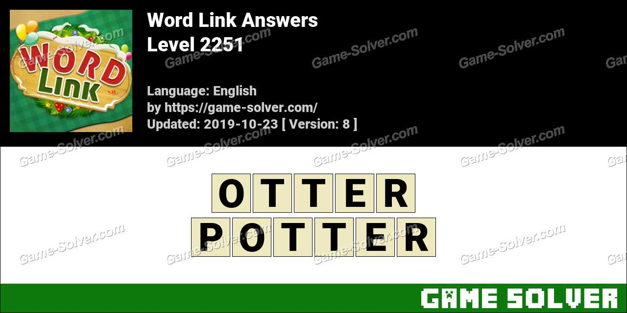 Word Link Level 2251 Answers