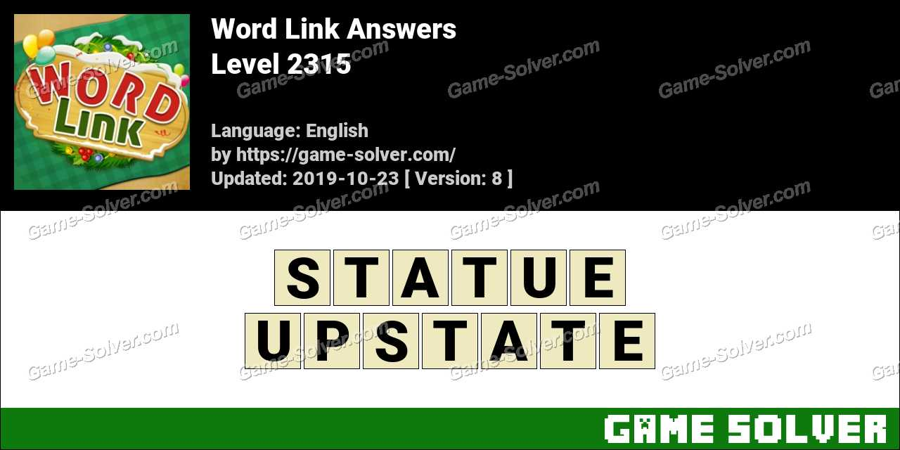 Word Link Level 2315 Answers