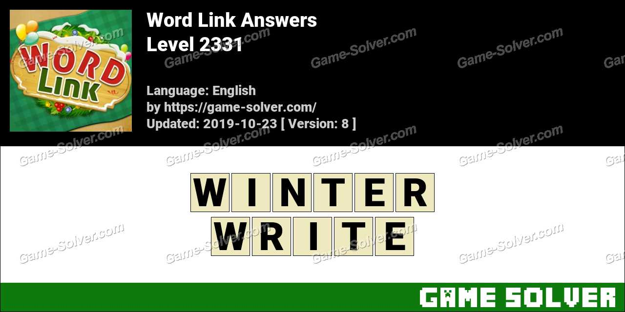 Word Link Level 2331 Answers