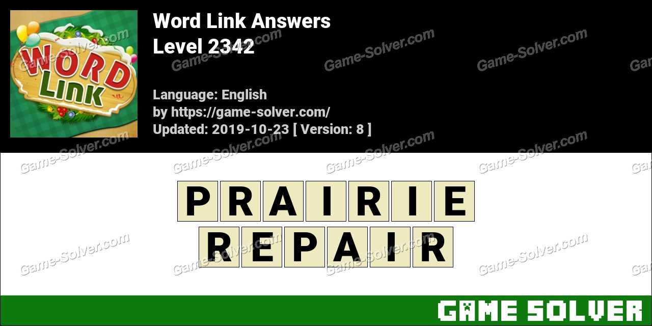 Word Link Level 2342 Answers