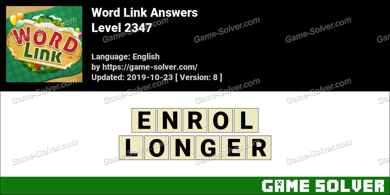 Word Link Level 2347 Answers