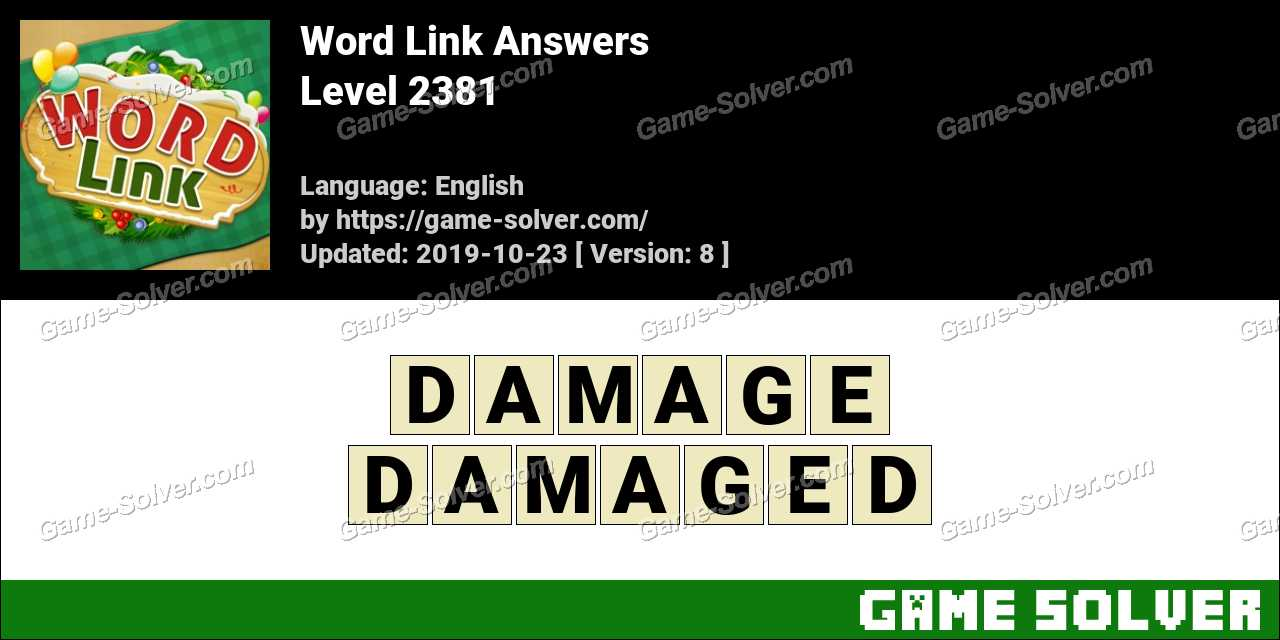 Word Link Level 2381 Answers