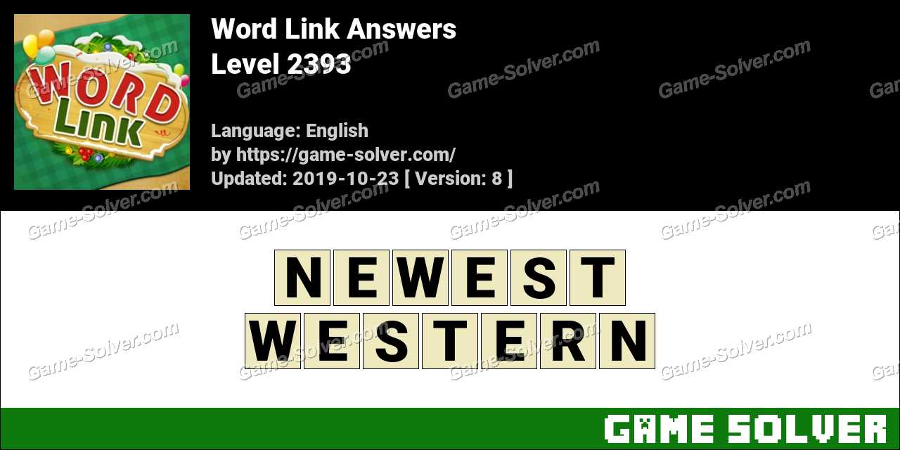 Word Link Level 2393 Answers