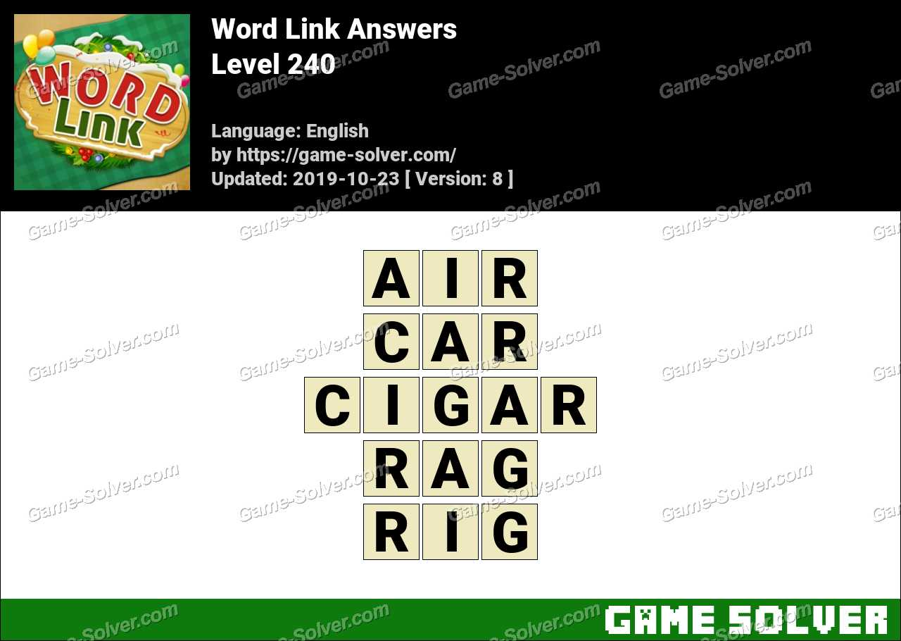 Word Link Level 240 Answers