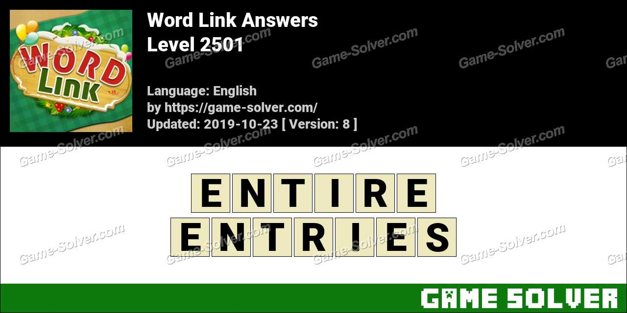 Word Link Level 2501 Answers