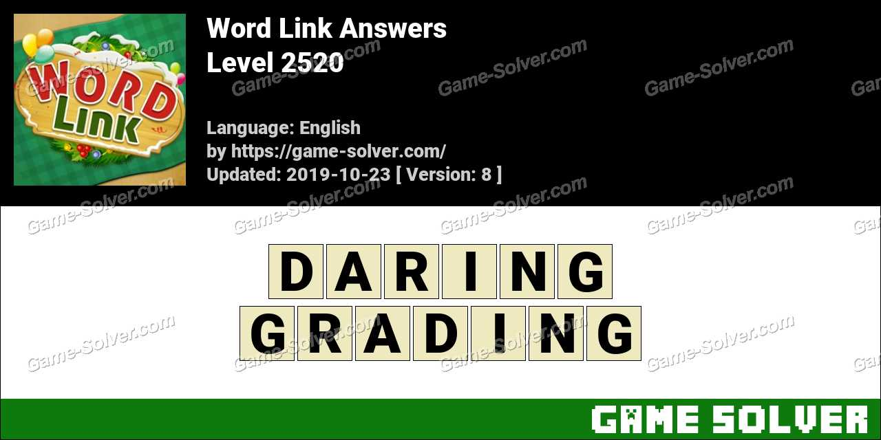 Word Link Level 2520 Answers