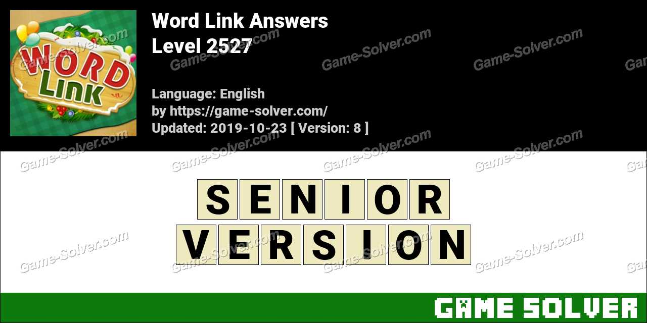 Word Link Level 2527 Answers