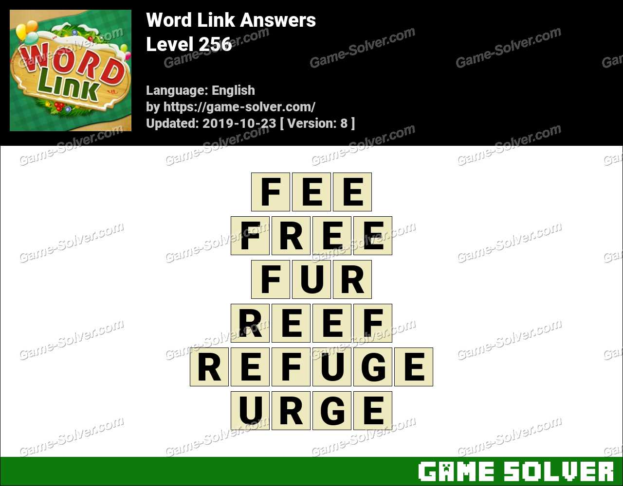 Word Link Level 256 Answers
