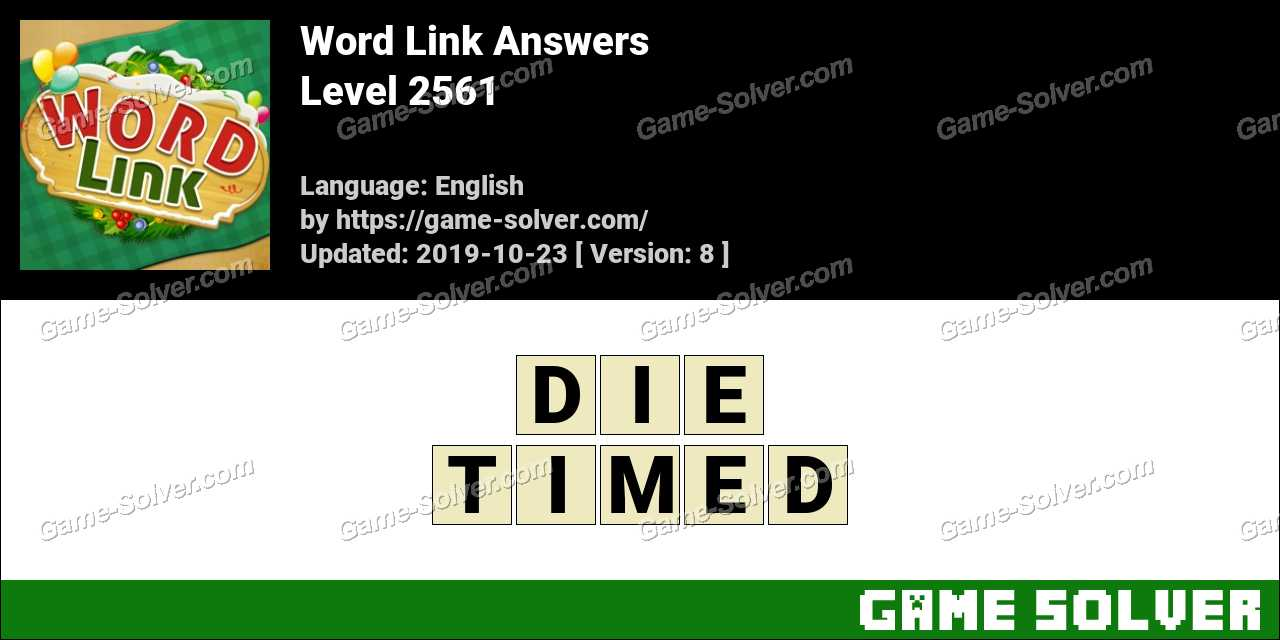 Word Link Level 2561 Answers