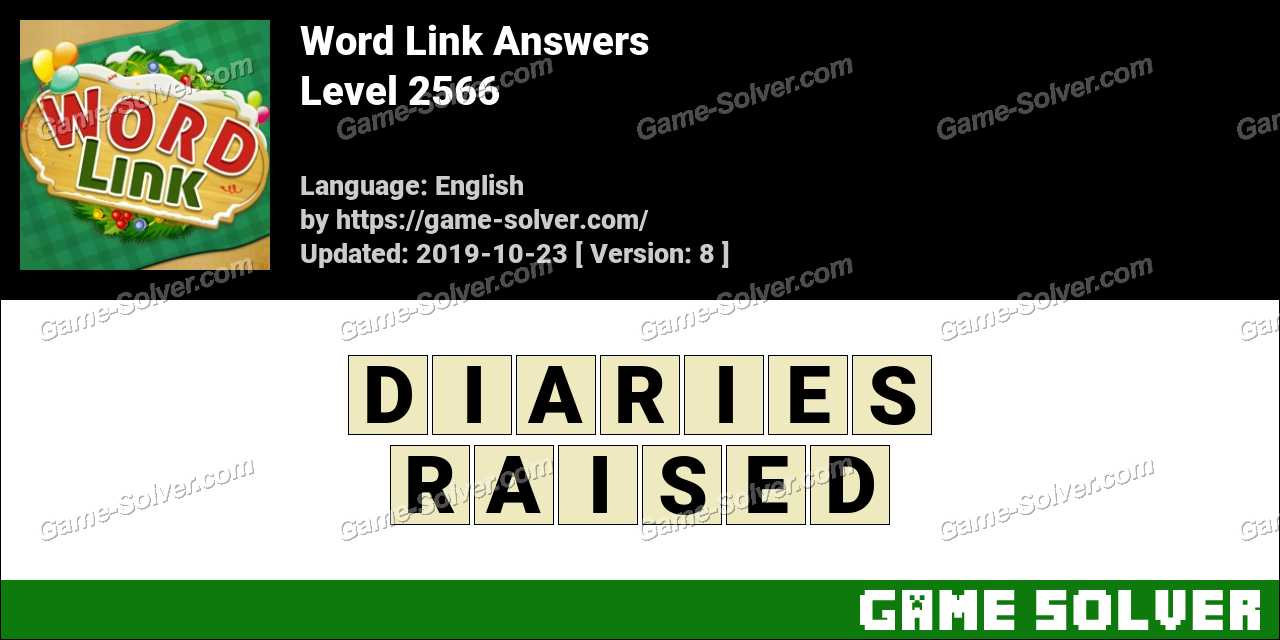 Word Link Level 2566 Answers