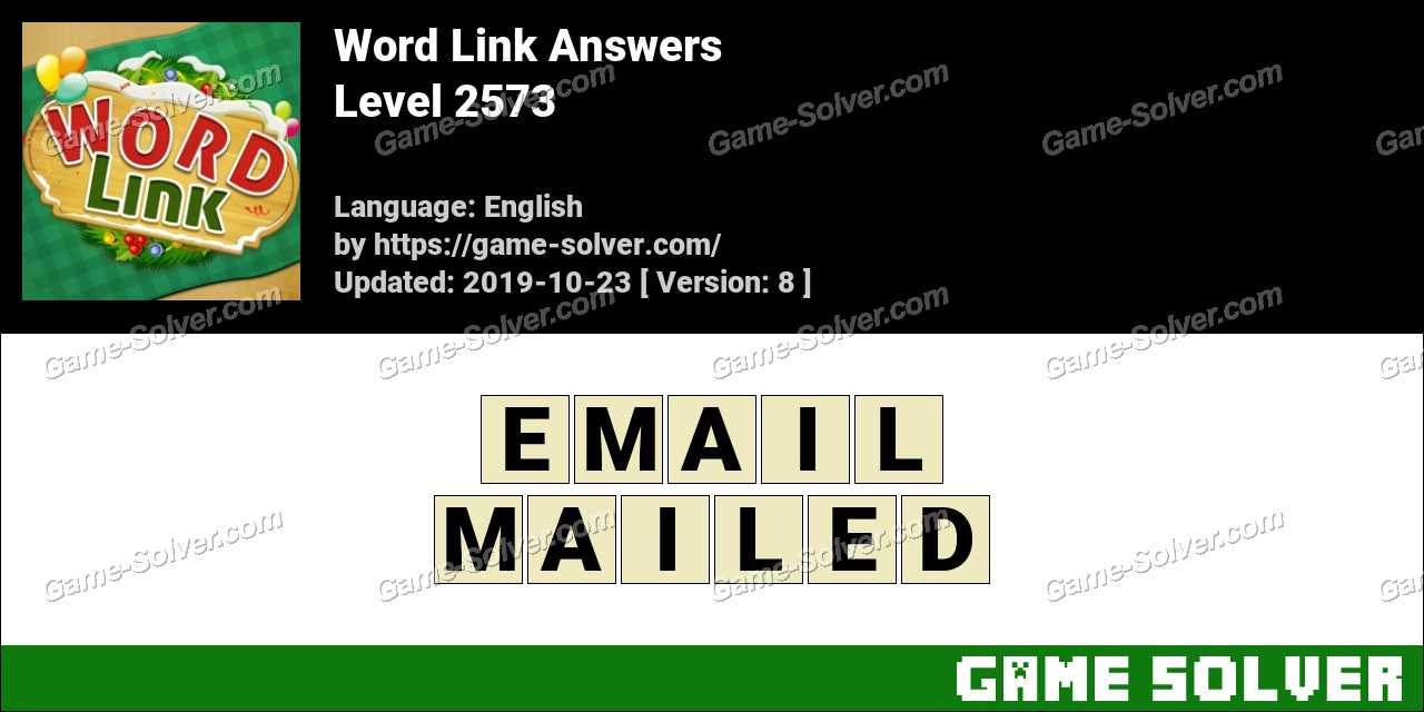 Word Link Level 2573 Answers