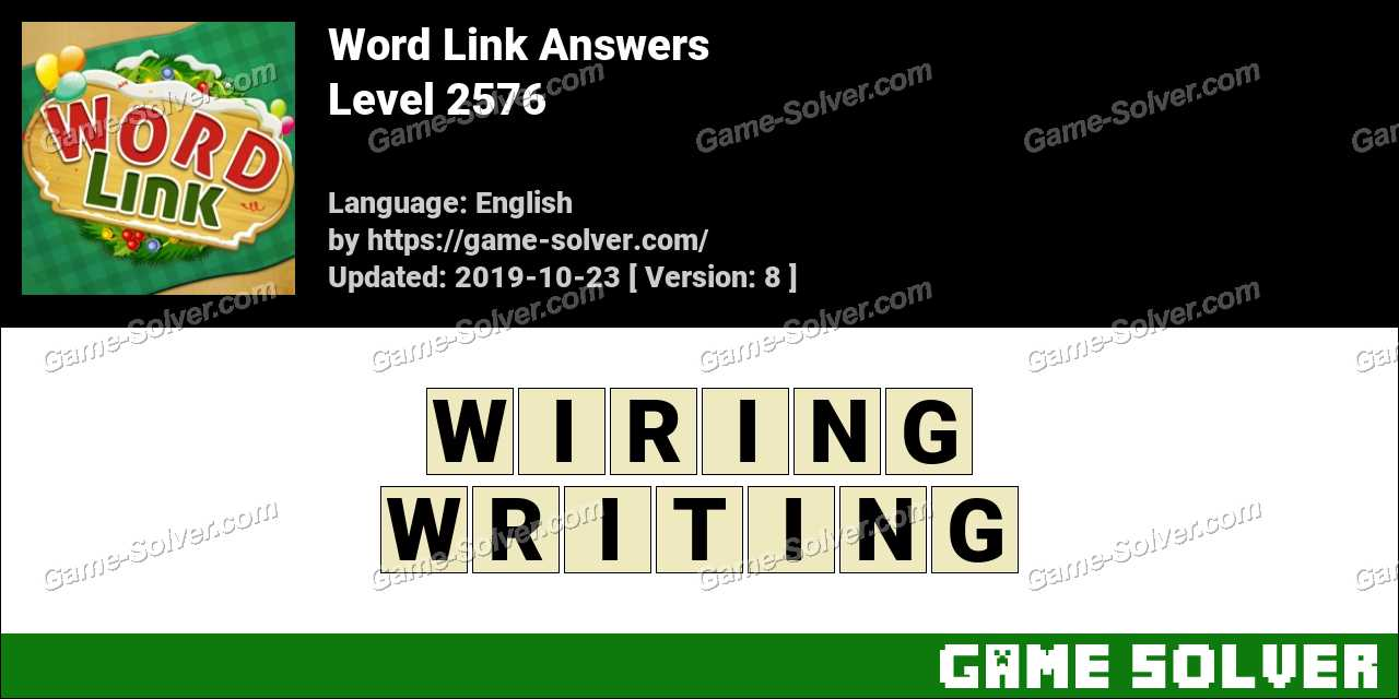 Word Link Level 2576 Answers