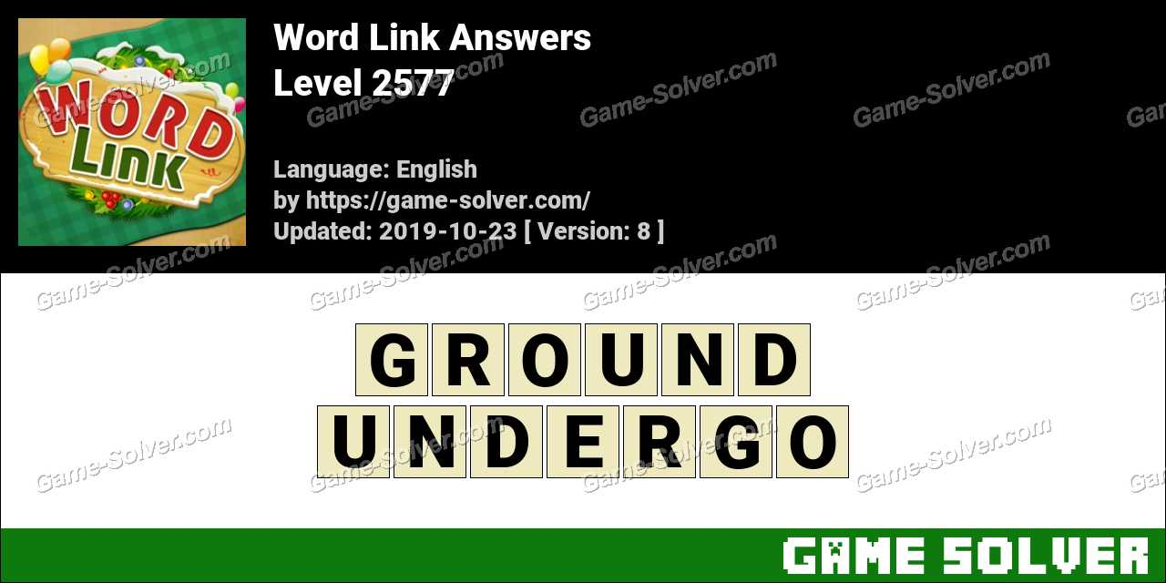 Word Link Level 2577 Answers
