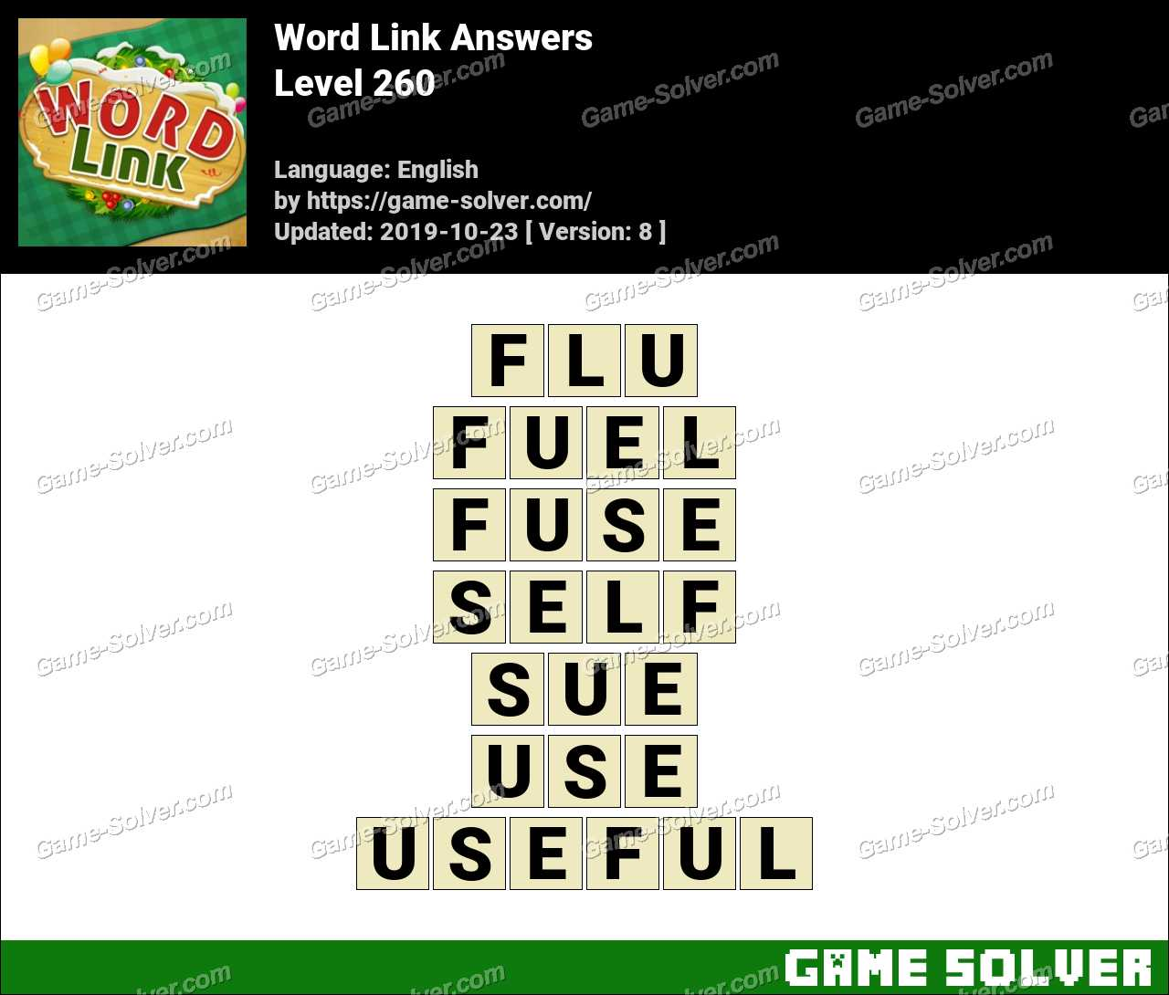 Word Link Level 260 Answers