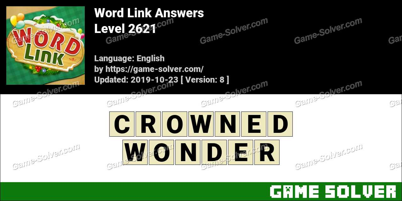 Word Link Level 2621 Answers