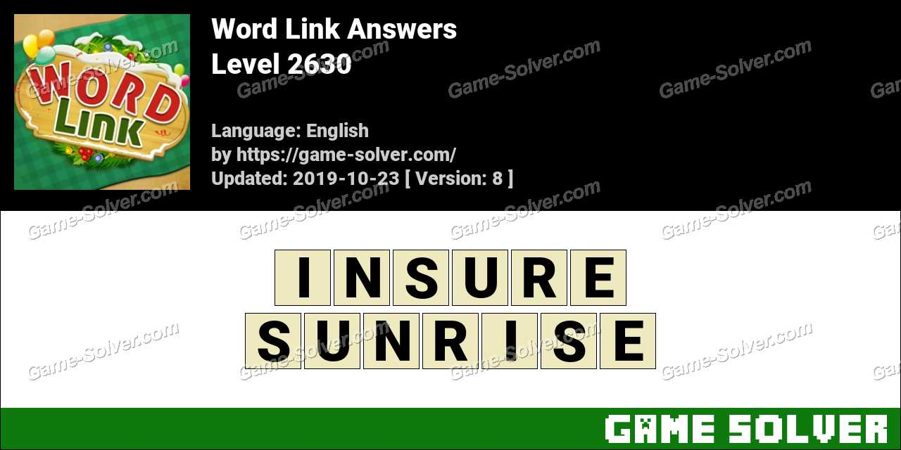 Word Link Level 2630 Answers