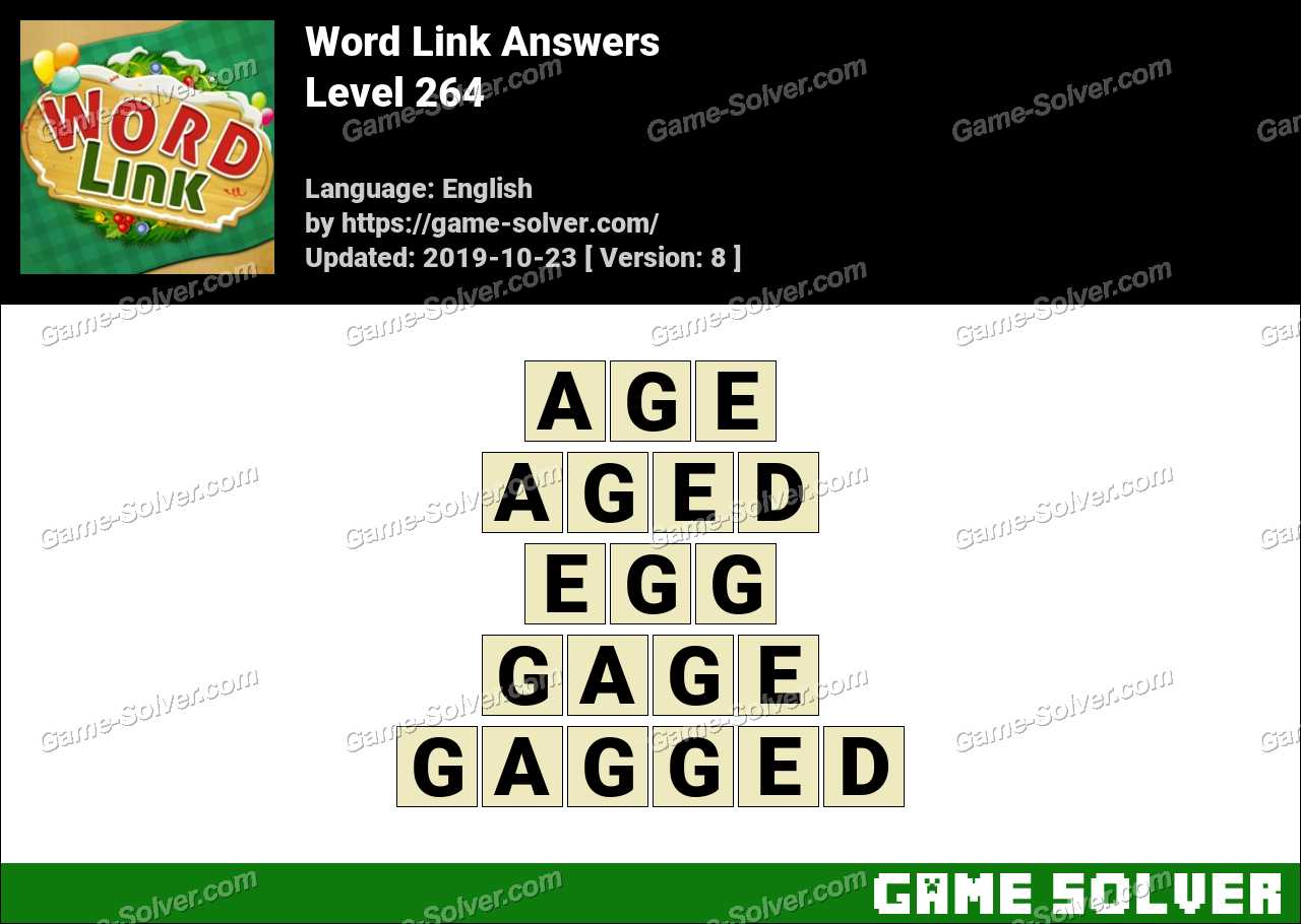 Word Link Level 264 Answers