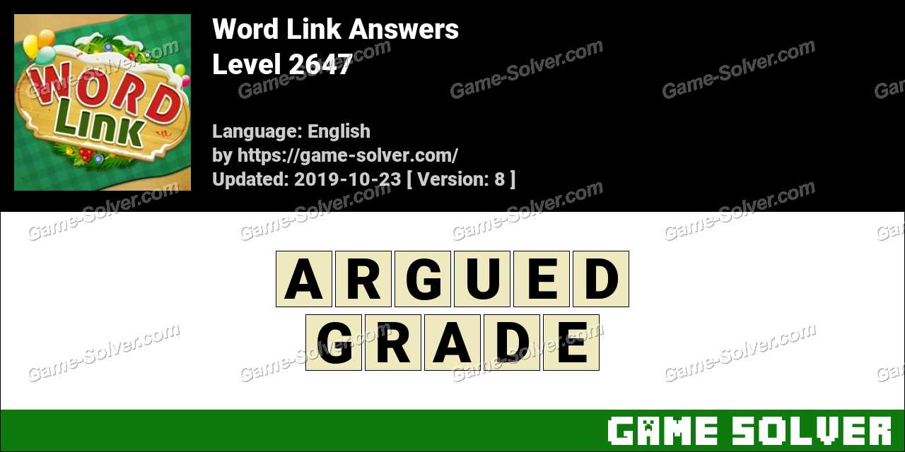 Word Link Level 2647 Answers