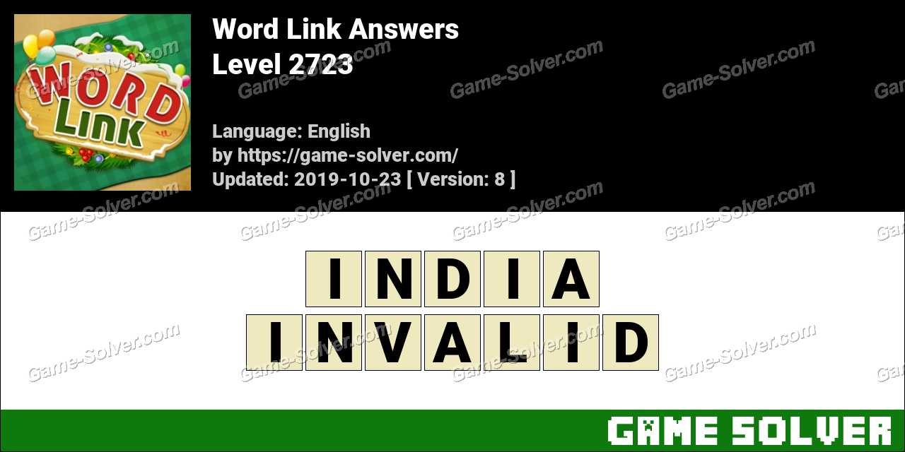 Word Link Level 2723 Answers