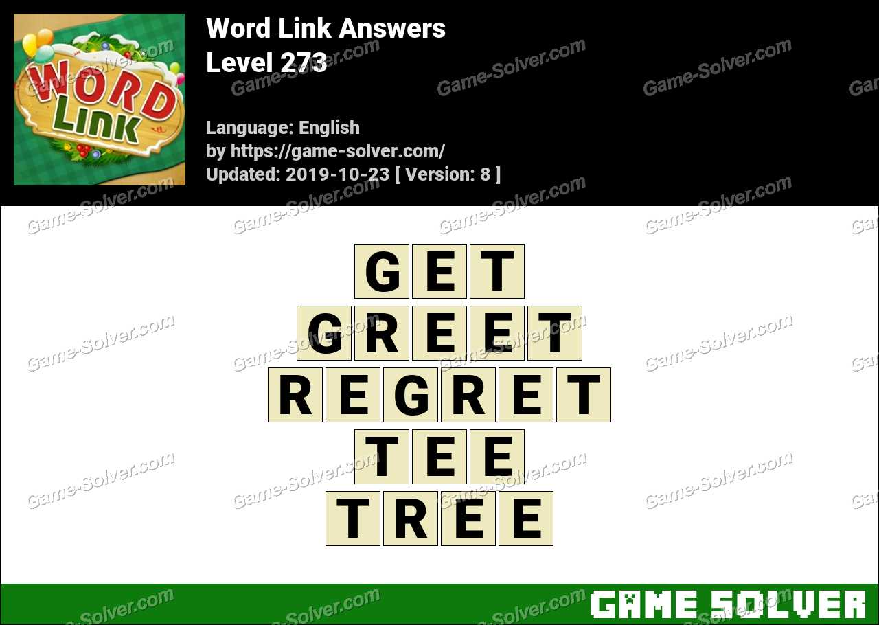 Word Link Level 273 Answers