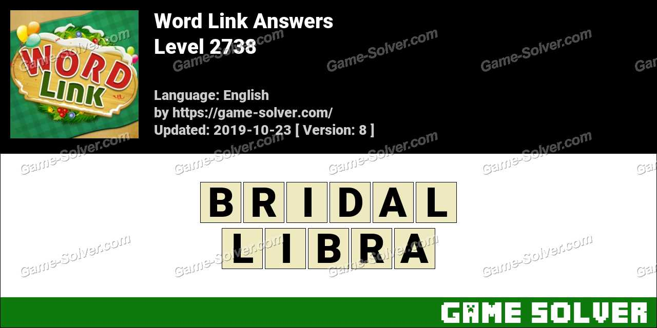 Word Link Level 2738 Answers