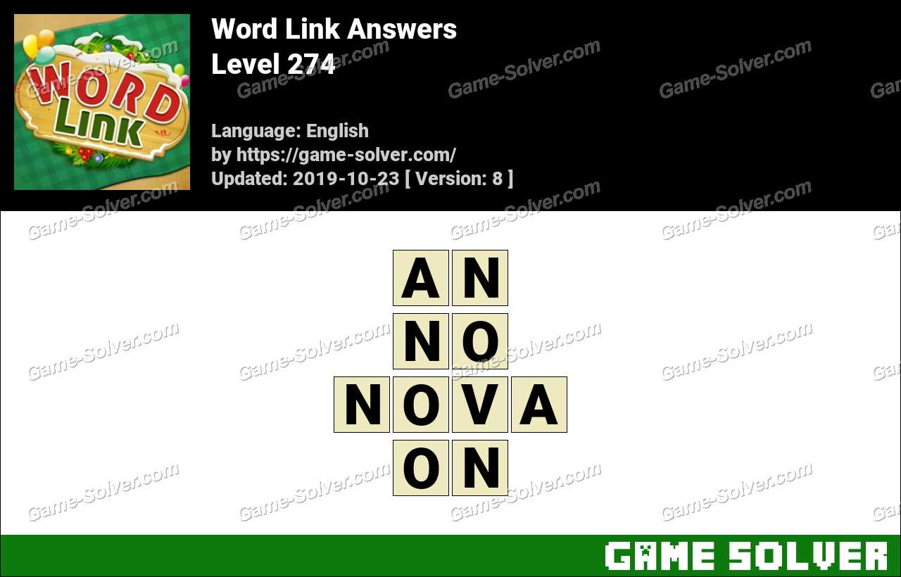 Word Link Level 274 Answers