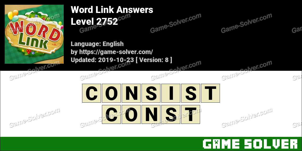 Word Link Level 2752 Answers