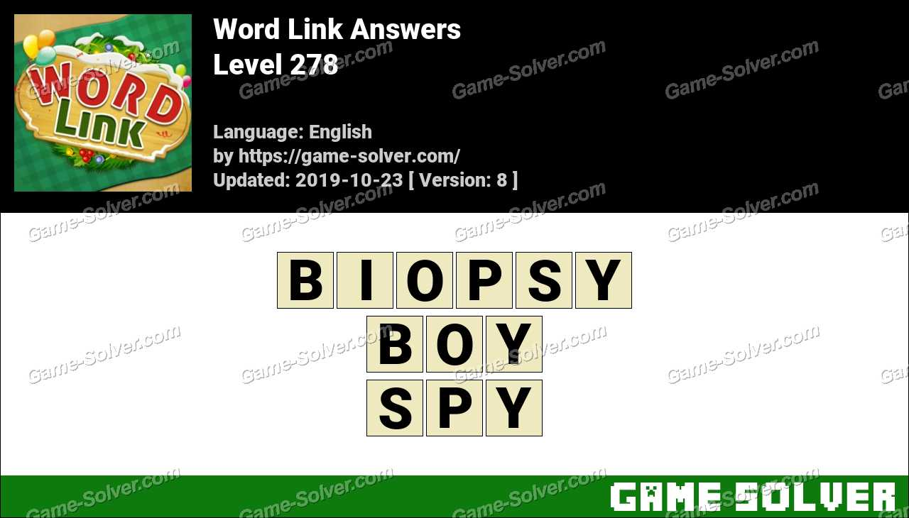 Word Link Level 278 Answers