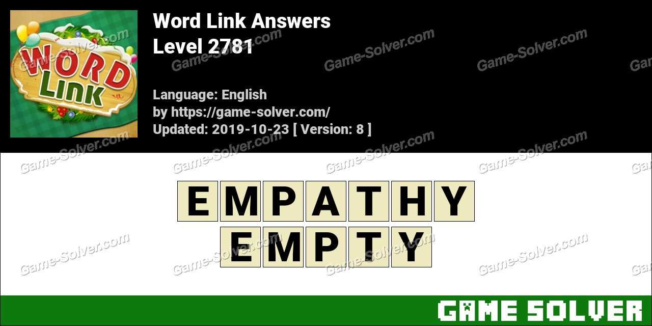 Word Link Level 2781 Answers