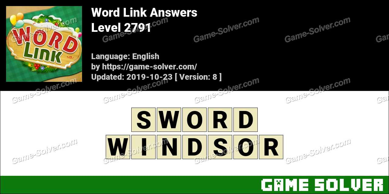 Word Link Level 2791 Answers