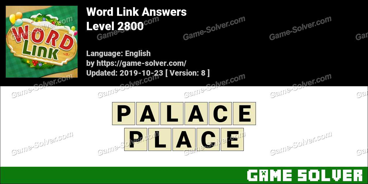 Word Link Level 2800 Answers