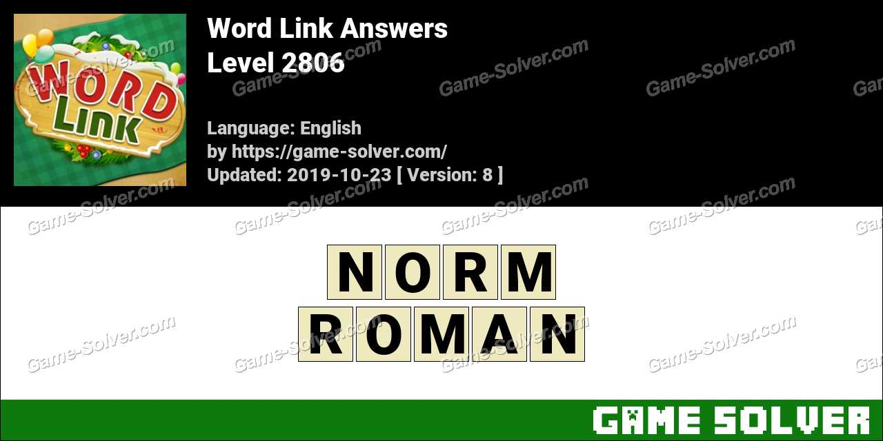 Word Link Level 2806 Answers