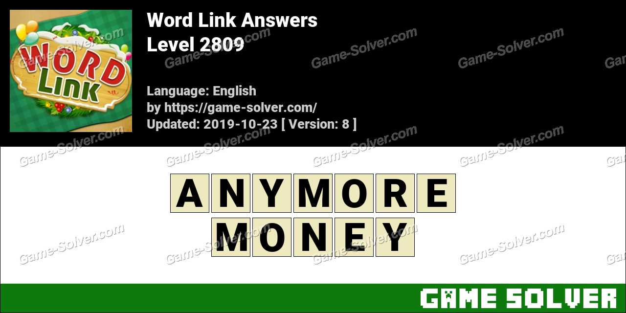 Word Link Level 2809 Answers