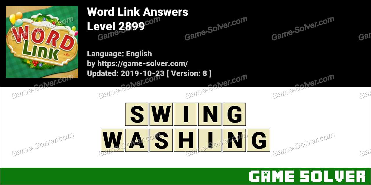 Word Link Level 2899 Answers