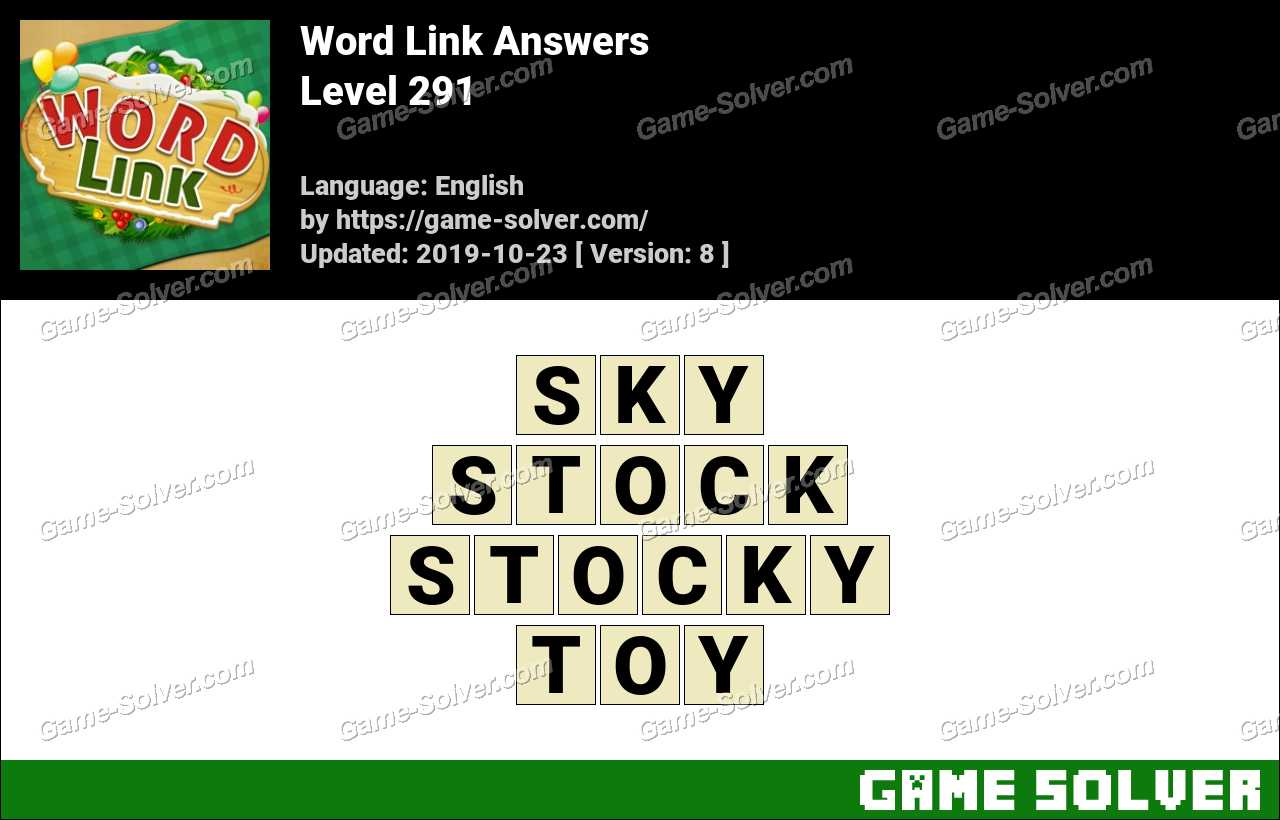 Word Link Level 291 Answers