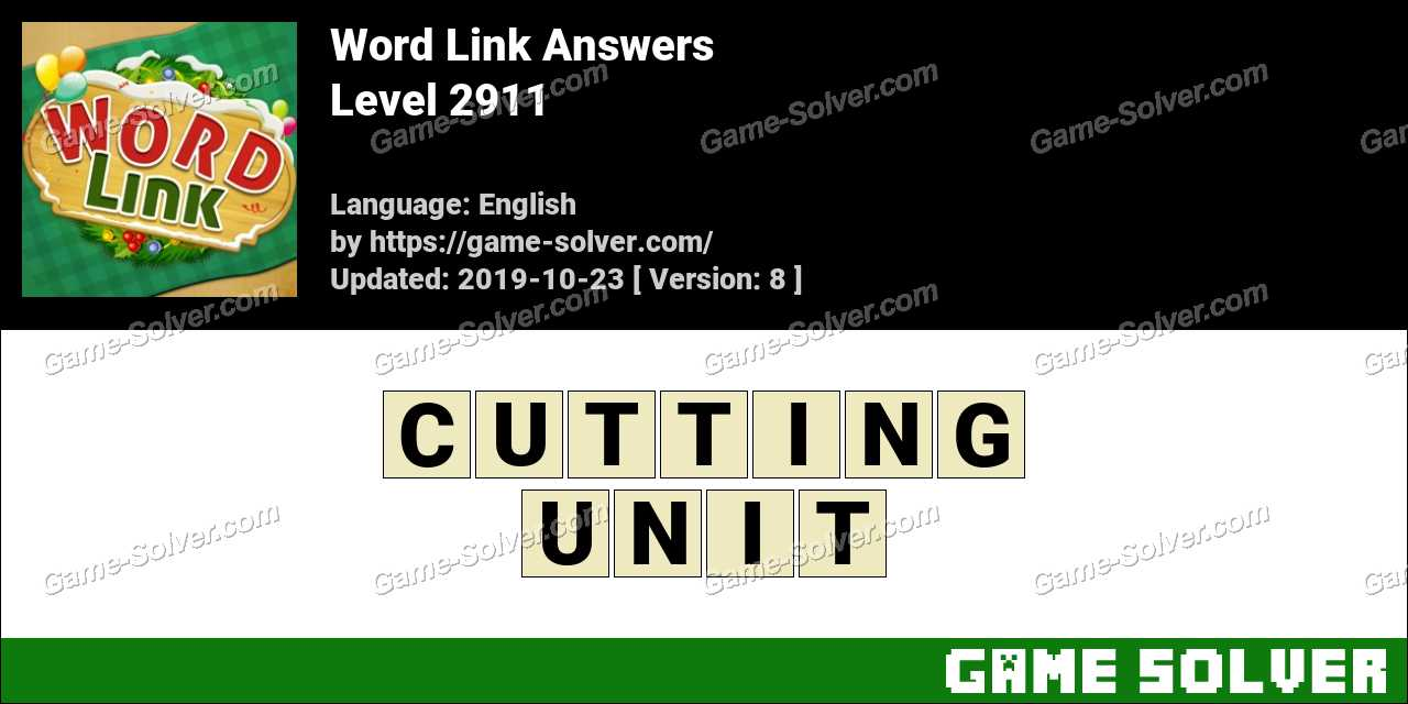 Word Link Level 2911 Answers