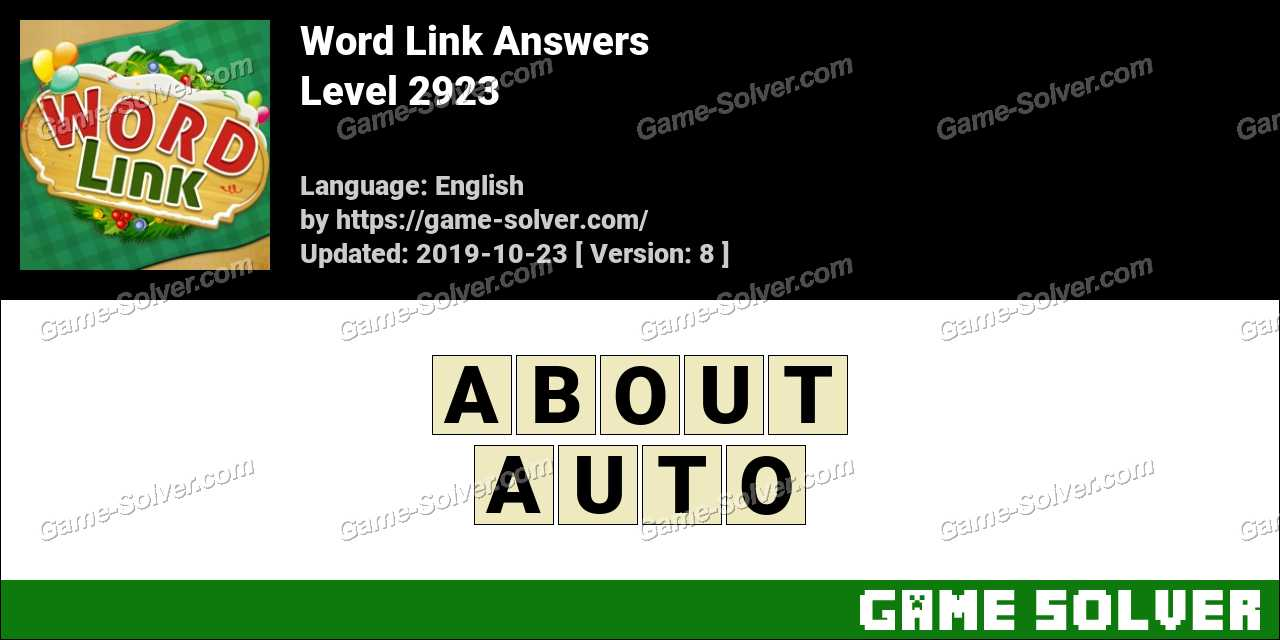 Word Link Level 2923 Answers